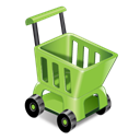 ecommerce, shopping, sell, Cart Black icon