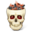 Flaming skull Wheat icon