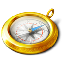 compass, navigate, Browser DarkGoldenrod icon