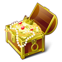 gold, chest, treasure SaddleBrown icon