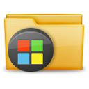 Folder, windows Black icon
