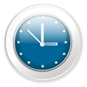 time, Clock, Wait Teal icon