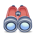 Binoculars, Find, search Black icon