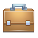 work, Briefcase Black icon