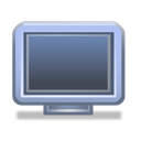 Computer, screen, monitor Black icon