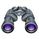 zoom, Find, Binoculars, search Black icon