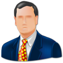 Business man, Administrator, Man, user, consultancy MidnightBlue icon