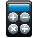 calculator, math Black icon