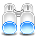Binoculars Black icon