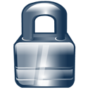 Lock, secure Black icon