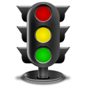 Lights, Traffic Black icon