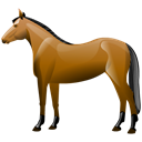 horse, Animal Black icon