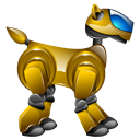 pet, robot, Aibo, dog, robotic Black icon