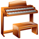 Hammond, organ, instrument Black icon
