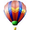 Air, Balloon, ballooning, hot Black icon