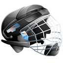 Ice, helmet, Hockey Black icon