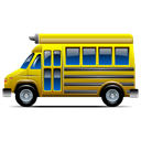 transportation, Bus, Behicle, school bus Black icon