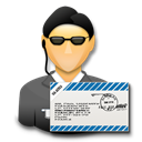 mail, user, secret agent, Agent, Signature, ssl Black icon