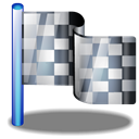 Checkered, flag Black icon