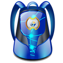 Backpack Black icon