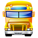 transportation, Service, school bus Black icon