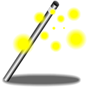 magic, Wand Black icon