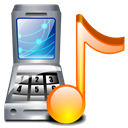music, ringtones Black icon