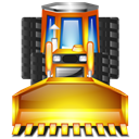 truck, Earthmover Black icon