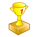win, trophy, The best Black icon