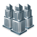 businesses, city, buildings, Companies Black icon