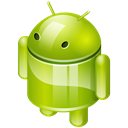 mobile os, robot, platform, Android YellowGreen icon