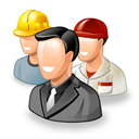 workers, testimonials, office, Gente, Users, group, people Icon