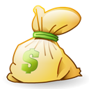 Bag, Money, funding, Dollar, Cash, rick, investment Black icon