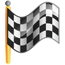 Checkered, flag, Goal Black icon
