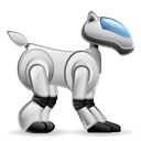 robot, dog, robotic, pet Black icon
