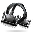 Cable, Extension, vga Black icon
