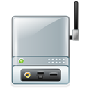 wireless, Print, Server Black icon