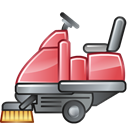 Road, Sweeper Black icon
