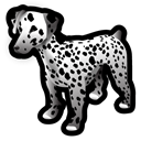 dalmatian, Animal, dog Black icon