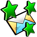 new, mail Black icon