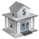house, Bank Black icon