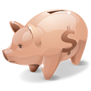 Money, savings, piggy, Bank Black icon