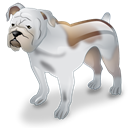 Bulldog, dog, pet Black icon