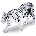 White, Tiger, Animal Black icon