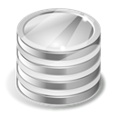 Database Black icon