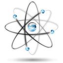 science, Atom, cellular, dna, physics Black icon