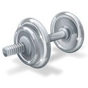 weight, Barbell, gym, weightlifting, weights, fitness, dumbell, Physical, dumbbell Black icon