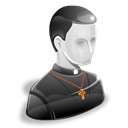 Priest, user, monk, Belief, creed, Man, christian Black icon