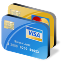 credit, Cards CornflowerBlue icon