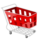 red, Cart, shopping, Basket Black icon